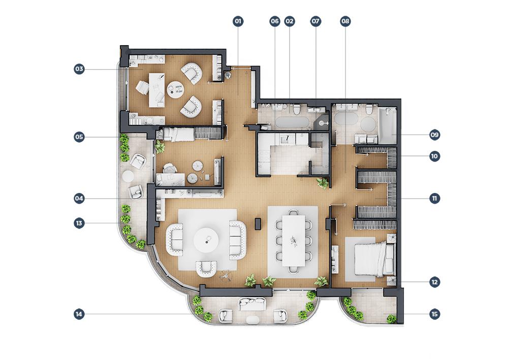 Cetvorosoban stan floor plan